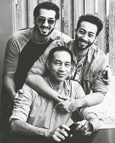 Aashirman DS Joshi with his dad and brother