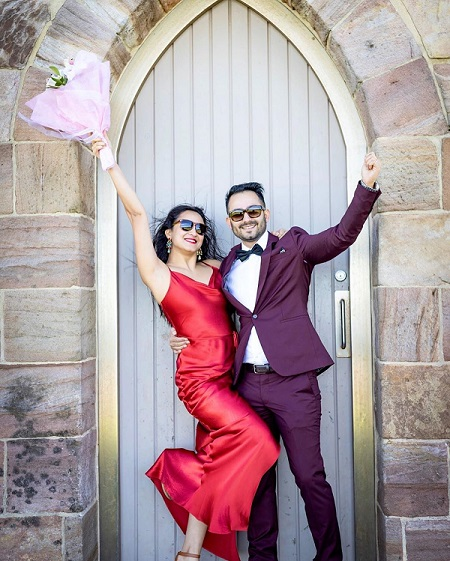 Mariska Pokharel with her husband