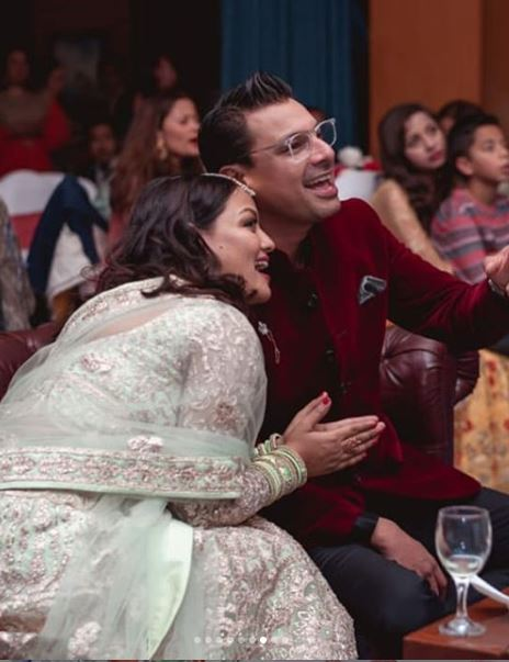 Reecha Sharma with her husband