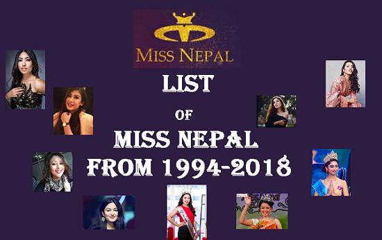 Miss Nepal list