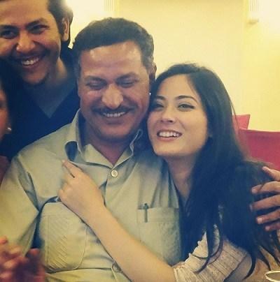 Shrinkhala Khatiwada with her father