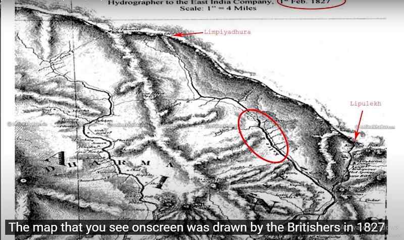 Map Drawn by British in 1827