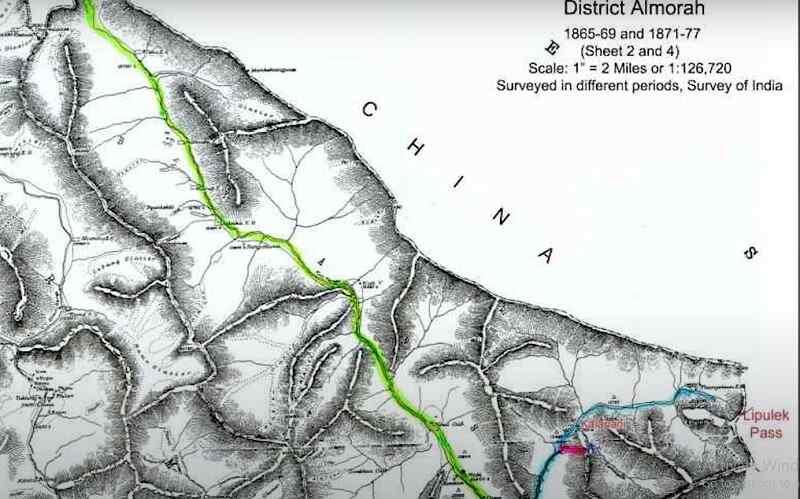 Nepal map 1860