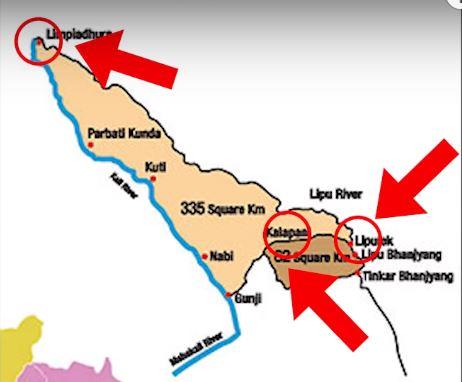 limpiyadhura lipulekh and kalapani map
